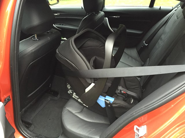 Recaro Privia baby seat in 5-door M135i - babybmw.net