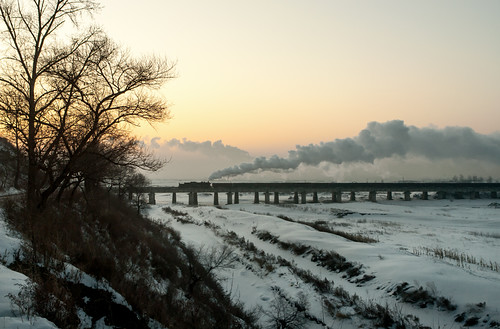 china heilongjiang sunrise industrial railway steam province sy riverbridge jixi mulingriver jiximiningbureau