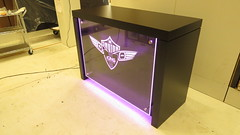 Custom Display with LED Lighting (Purple)