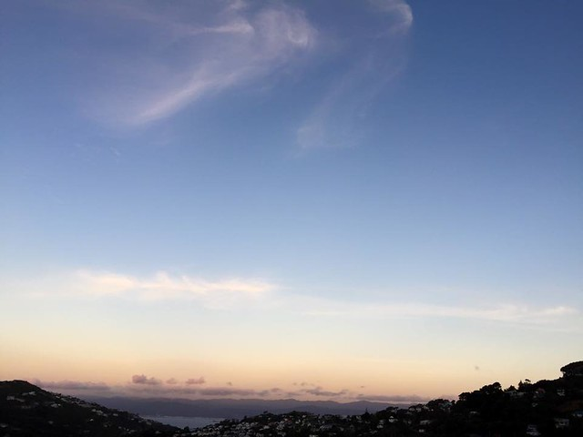 sunset in Wellington