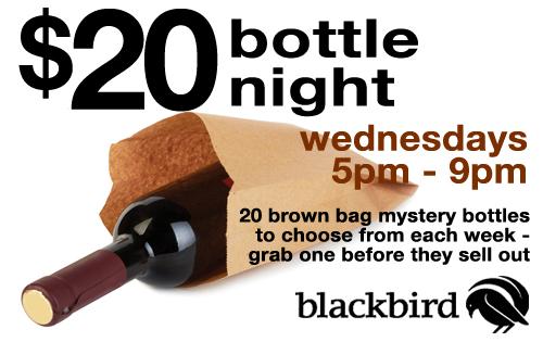 $20 bottle night