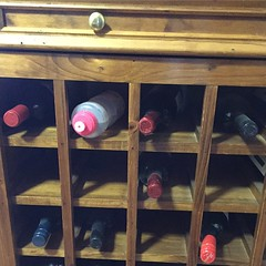 One of these things are not like the other ones.... #wine #winerack #peppapig #kids