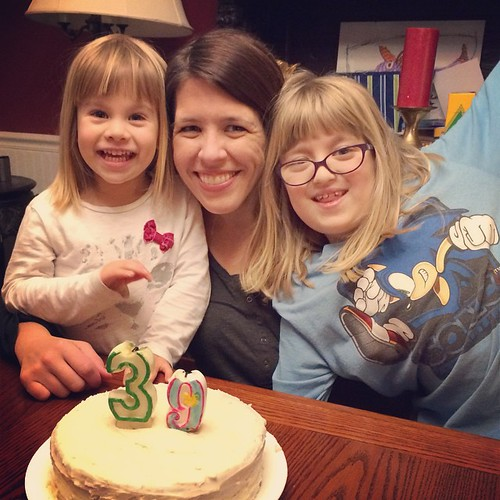 Birthday cake with my babies. Doesn't get much better than that.