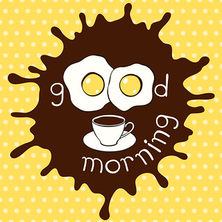 Good morning! Humorous vector illustration.