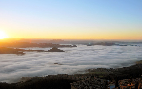 sunset panorama fog clouds landscape san tramonto sanmarino sundown foggy nebbia marino titano