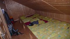 Sypialnia w schronisku Cabane de Prafleuri 2662m.