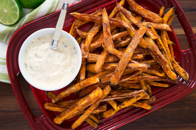Sweet Potato Fries with Chipotle Lime Aioli
