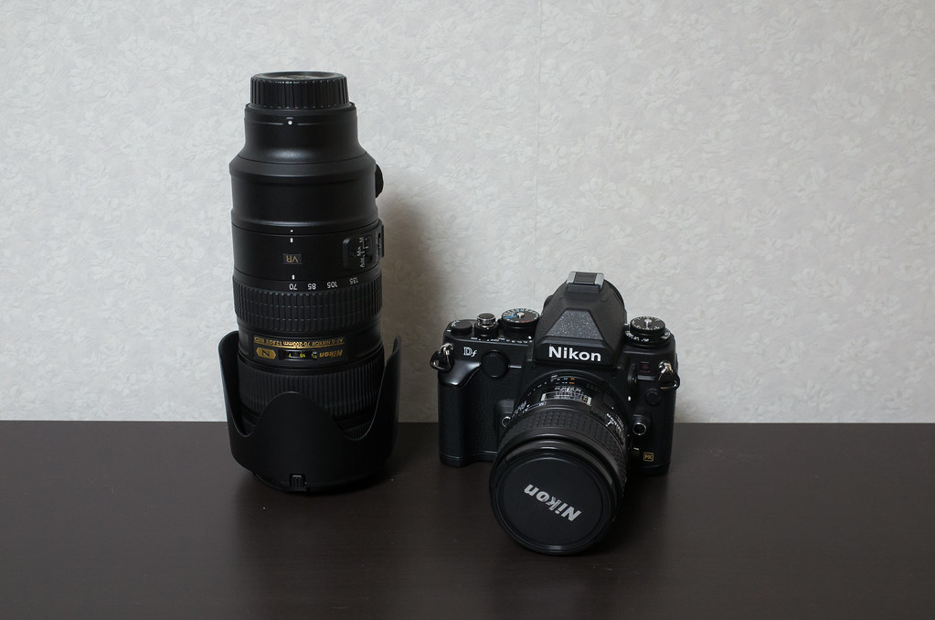 カメラと望遠レンズ