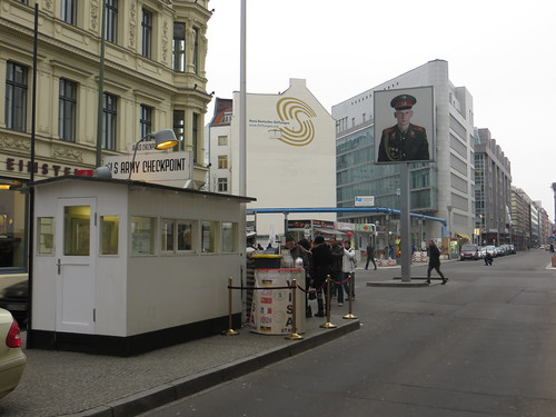 checkpoint charlie, looking into 'east' berlin