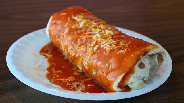 Smothered Burrito Abelardos Mexican Restaurant in Des Moines, Iowa