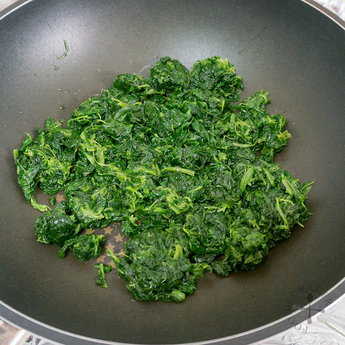 dry the spinach