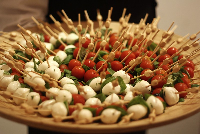 Bocconcini and tomato canapes