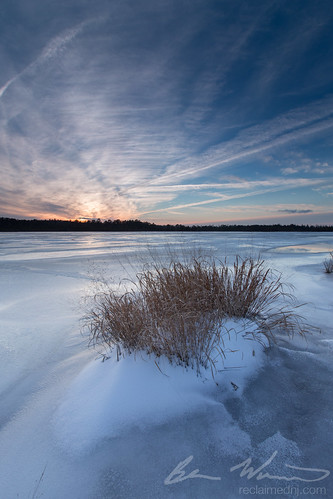 winter sunset lake snow ice frozen newjersey unitedstates nj oceancounty 2015 singhray eagleswood darylbenson staffordforgewma reverse9ndgrad