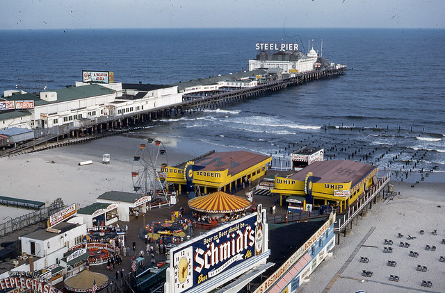 Steel Pier, Atlantic City, in the 1950s