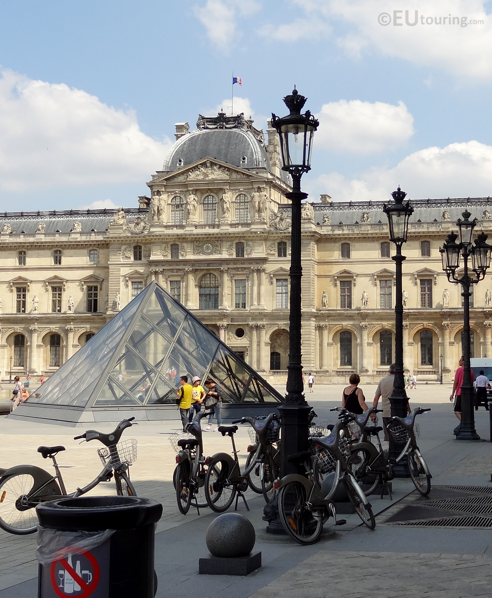 The Louvre Palace and Velib