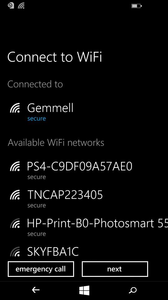 Setup Wi-Fi