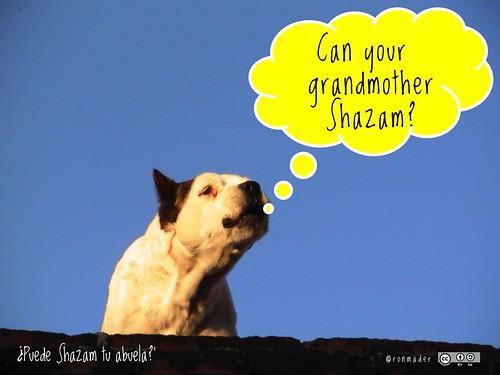 Can your grandmother Shazam? = ¿Puede Shazam tu abuela? #roofdog @Shazam