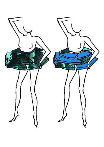 Coral Dress Fashion Illustration Female