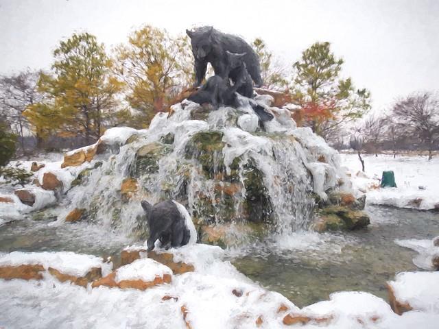 Bear Fountain Topaz Impressions Renoir II