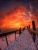 Une  passerelle vers le crépuscule
