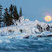 Full Crow Moon at the Tombolo by Bryan Hansel