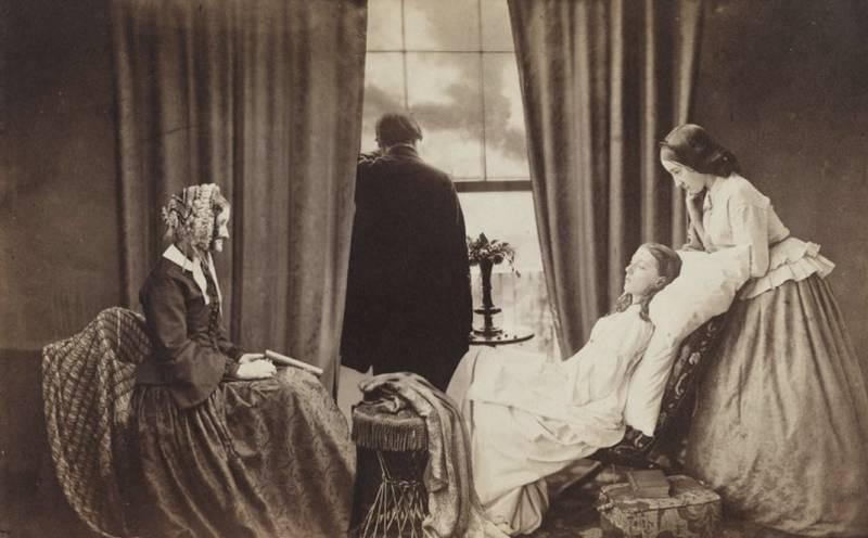 Henry Peach Robinson (English, 1830-1901) Fading Away 1858
