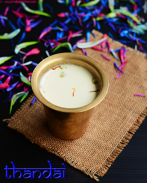 Thandai recipe – Holi recipes