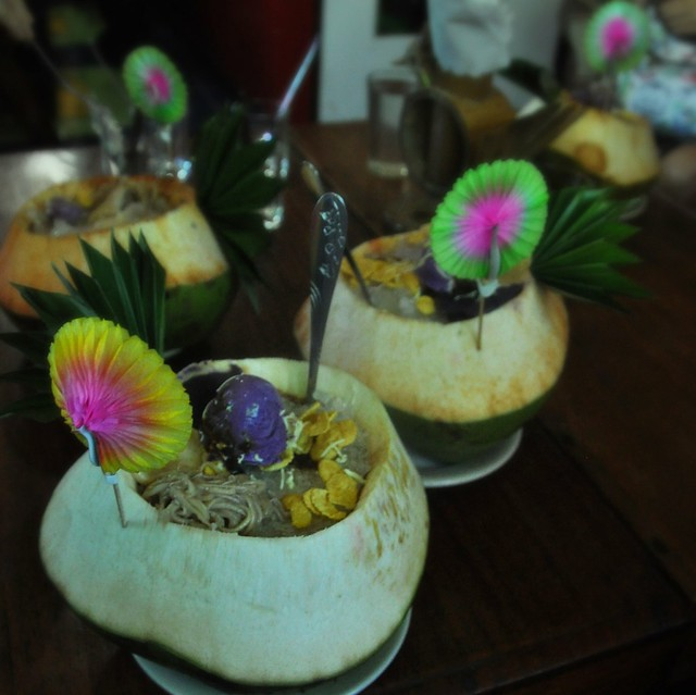 Buko Halo-Halo with Pandan Yema