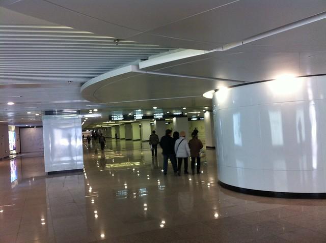 Station de métro  déserte, quartier de Yangjiaqiao