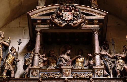 Münster, Westfalen, Paulusdom, monument to Heidenreich von Lethmate, dean of the cathedral, †mdcxxv aka 1625, detail