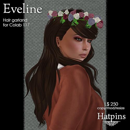 Hatpins - Eveline Hair Garland - Colab 117