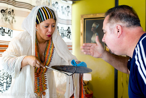 Ethiopian Coffee Ceremony, Askale Cafe, Washington DC