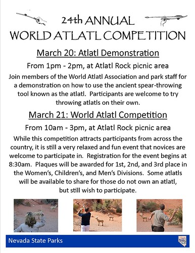 March 20-21: World Atlatl Competition, Valley of Fire State Park @NVStateParks @lostcitymuseum