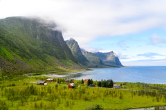 Cycling on Senja, Norway