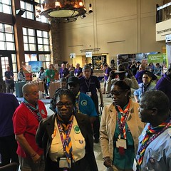 Delegations from all #interamericanscoutregion are here. #ScoutIAR.  #IASCHTX #InteramericanScoutConference #IARSC26 #ConferenciaScoutInteramericana #SMJoseTexas