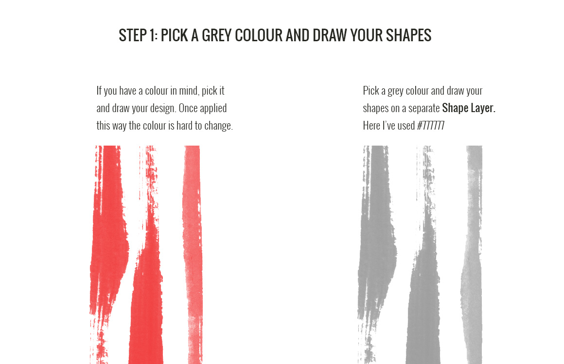Adding colour in Photoshop - Step 1