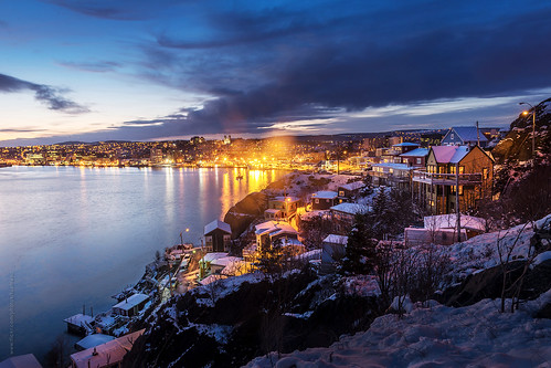 city longexposure winter white snow canada cold reflection skyline night port newfoundland landscape evening twilight nikon scenery downtown cityscape waterfront harbour dusk wide stjohns bluehour nfld nightfall thebattery atlanticcanada d600 stjohnsharbour newfoundlandandlabrador downtownstjohns nikond600