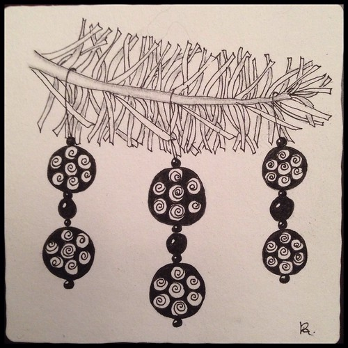 Zentangle 81, for The Diva's Weekly Challenge #198