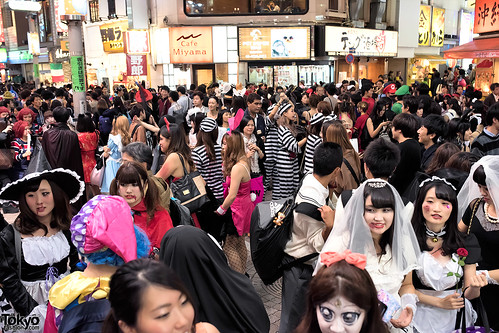 Halloween Night Costumes in Shibuya