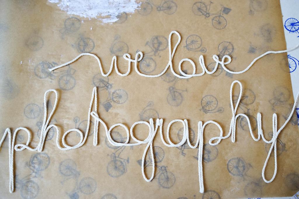 DIY Schriftzüge aus Schnüren