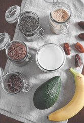 Chocolate protein milkshake (raw and vegan)