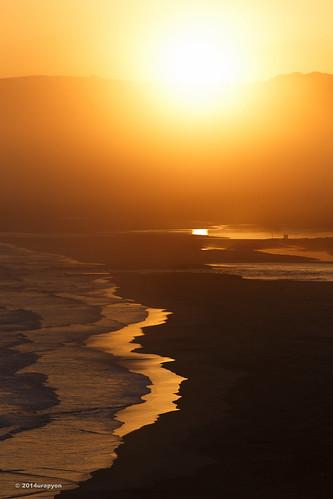 ocean autumn sunset sea sky orange seascape color beach japan canon gold wave sunny tsunami 日本 紅葉 秋 海岸 海 空 fukushima iwaki 2014 福島 福島県 fineweather 津波 いわき eos6d いわき市 200f28lⅱ ef200mmf28lⅱusm