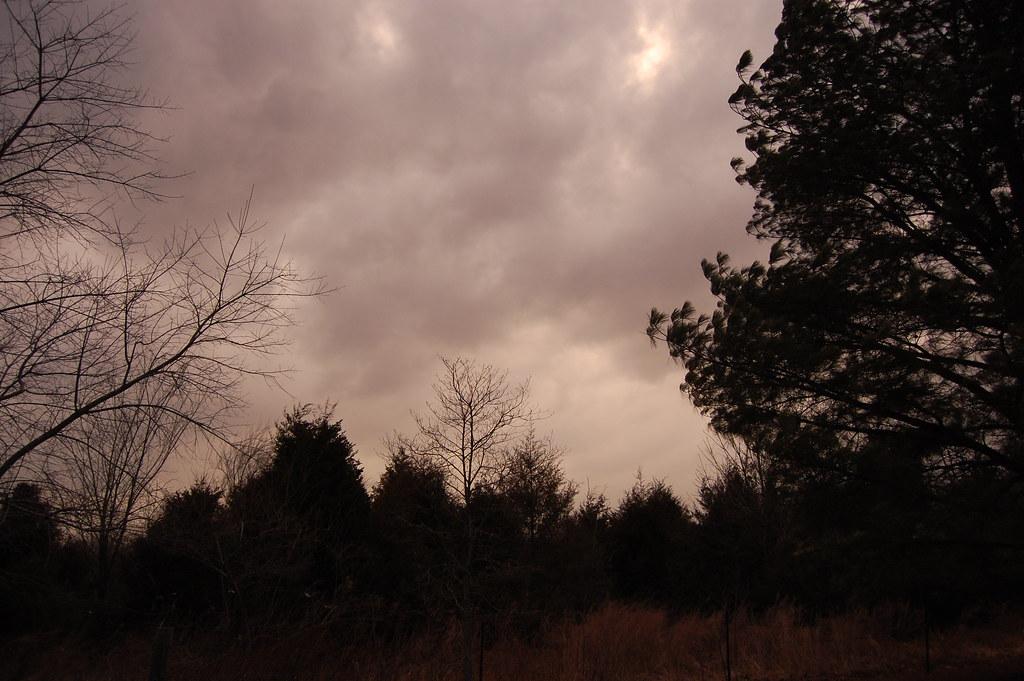 Ominous sky - storm coming.