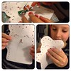 Filip decorating his puppet :) #sewing #kid #puppet