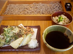 Vegetable tenpura and zaru-soba set at Kaori-ya So…