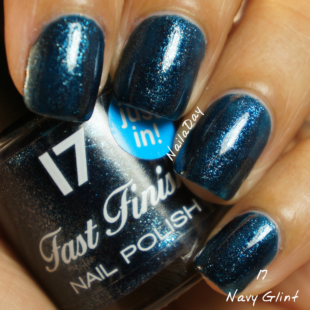 NailaDay: Stash swatches - Boots 17 Navy Glint
