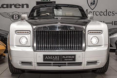sports car(0.0), automobile(1.0), automotive exterior(1.0), rolls-royce(1.0), vehicle(1.0), automotive design(1.0), rolls-royce phantom coupã©(1.0), rolls-royce phantom(1.0), rolls-royce phantom drophead coupã©(1.0), bumper(1.0), land vehicle(1.0), luxury vehicle(1.0), vehicle registration plate(1.0),