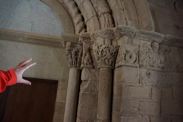 Montserrat Romanesque fragments capitals