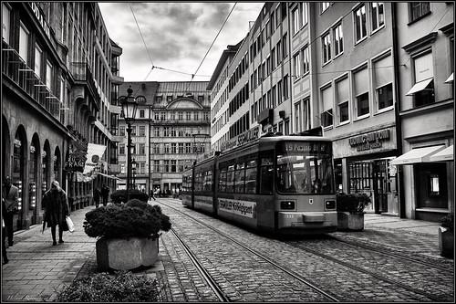 Mit der Tram durch die Innenstadt