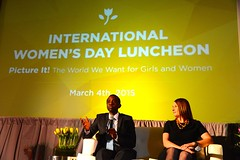 Deputy Secretary of State for Management and Resources Heather Higginbottom delivers remarks at a luncheon hosted by the UN Foundation in honor of International Women's Day in Washington, D.C., on March 4, 2015. [State Department photo/ Public Domain]